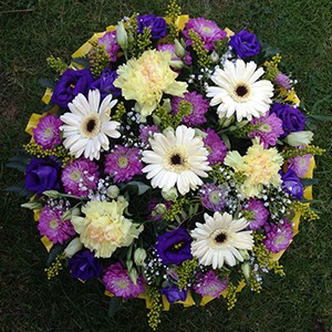 Purple & White Posy Pad